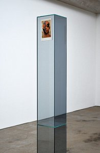 Amir Fattal ›Body of Work‹ - glass with reflective film, paper - 2011